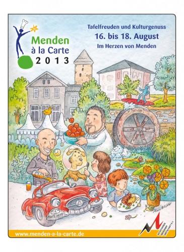 """Zeitungsbeilage """"Menden à la carte 2013"""""""