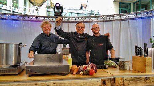 Volkhard Nebrich und die Festgastronomen sind bereit für die Kocharena 2017
