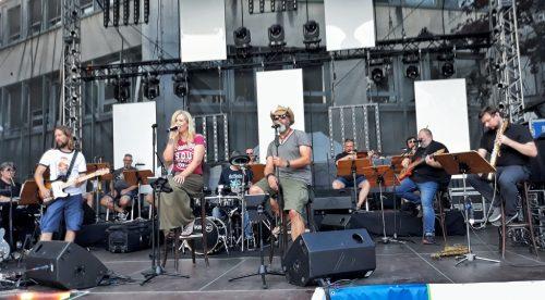 Die Classic Night Band mit der BoSy-Lounge-Band der Bochumer Symphoniker beim Soundcheck.